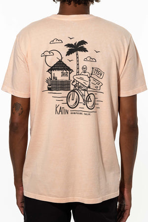 Beach Cruiser Tee in Cherry Blossom Mineral