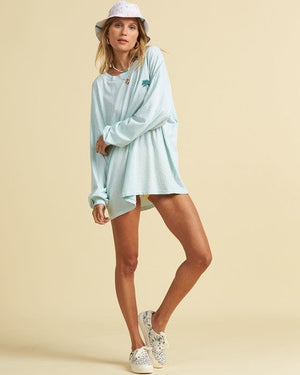 Beach Boyfriend Long Sleeve Tee in Salty Blue