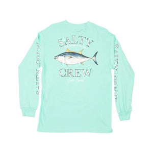 Big Blue Standard L/S Tee in Seafoam