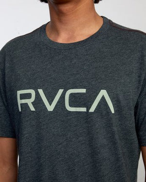 Big RVCA Short Sleeve Tee in Black/Green