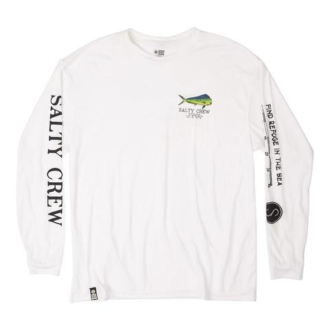 Bull L/STech Tee in White