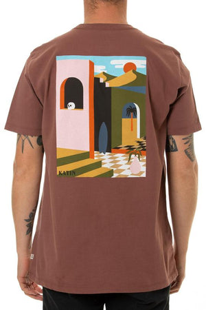 Bungalow Tee in Dark Clay