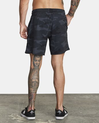 "Yogger Stretch 17"" Workout Short in Camo"
