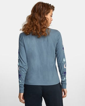 Copa Long Sleeve Tee in Stormy Blue