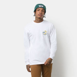 Surf Palm Long Sleeve Tee in White