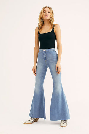 Just Float On Flares in Bermondsey Blue