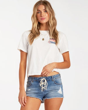 Lite Hearted Denim Shorts in Indigo Rinse