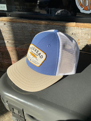 Lure Trucker Hat in Blue/Sand