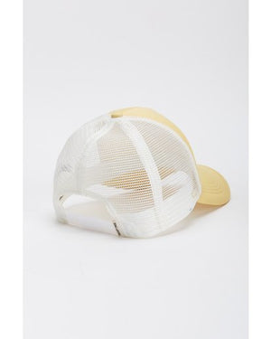 Across Waves Trucker Hat in Light Yellow