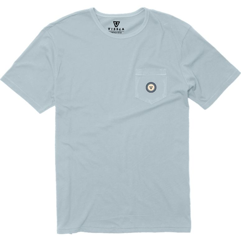 Medallion Organic Pocket Tee in Chambray