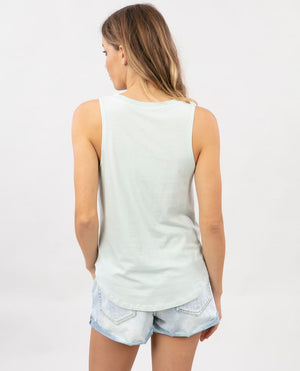 Peace Sign Tank in Ice Blue