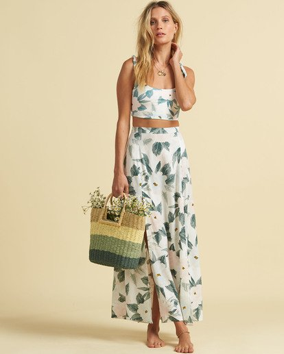 Saltyblonde Peachy Keen Maxi Skirt in Multi
