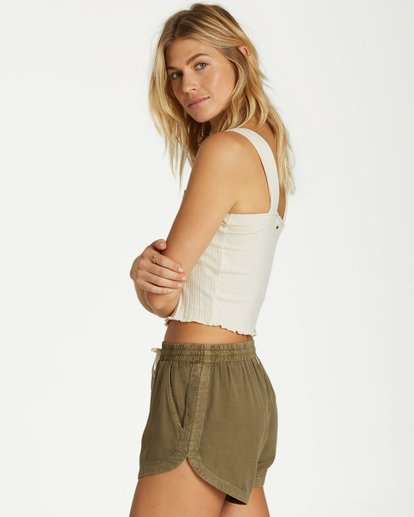 Road Trippin Shorts in Sage Green
