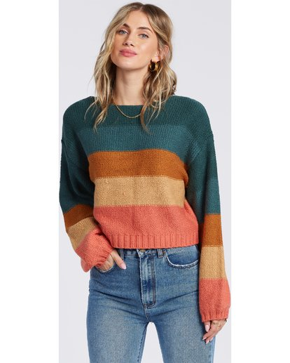 Seeing Stripes Sweater in Evergreen
