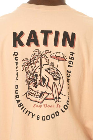 Skull Island Tee in Light Peach