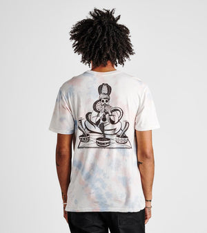 Snake Charmer Tee in Grey/Blue