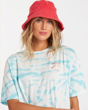Summer Crush Bucket Hat in Hot Coral