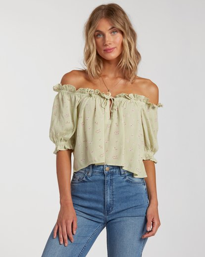 Sunny Skies Top in Celedon Green