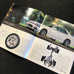 R34 GTT Sedan Factory Dealers Brochure