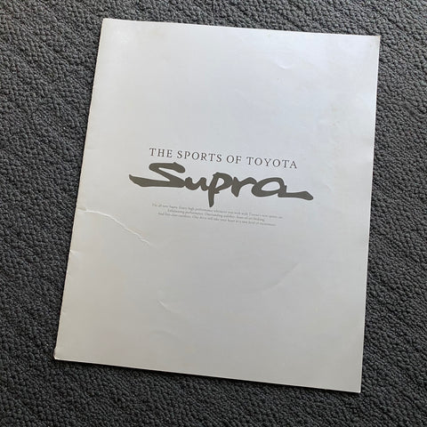Supra JZA80 Dealers Brochure 1993!