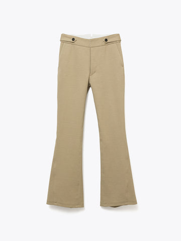 C/L CROPPED PANTS - BEIGE