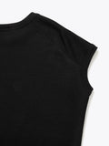 CO JERSEY SLEEVELESS TOP - BLACK