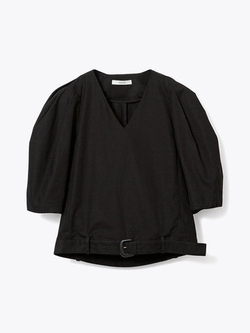CO V-NECKED BLOUSE - BLACK