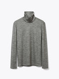 HIGH-NECKED JERSEY TOP - GRAY