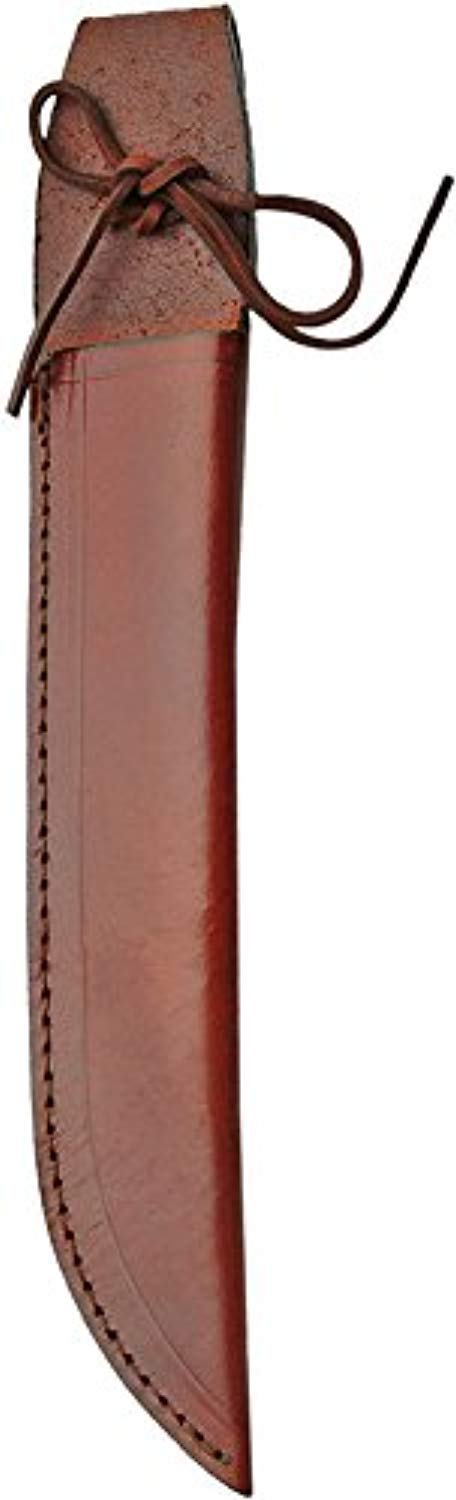 Fixed Blade Knife Sheath Brown Leather Fits up to 10in Blades