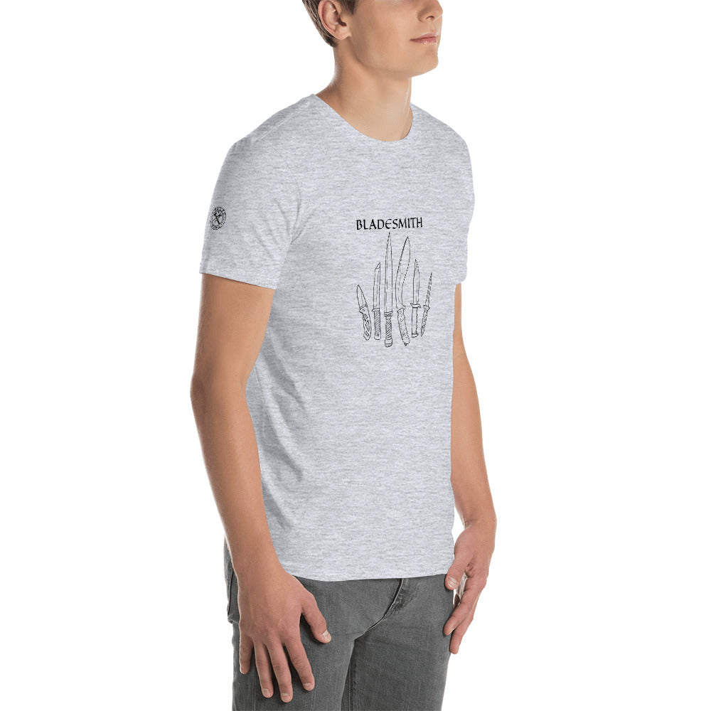 BLADESMITH Short-Sleeve Unisex T-Shirt by FORGED HARD