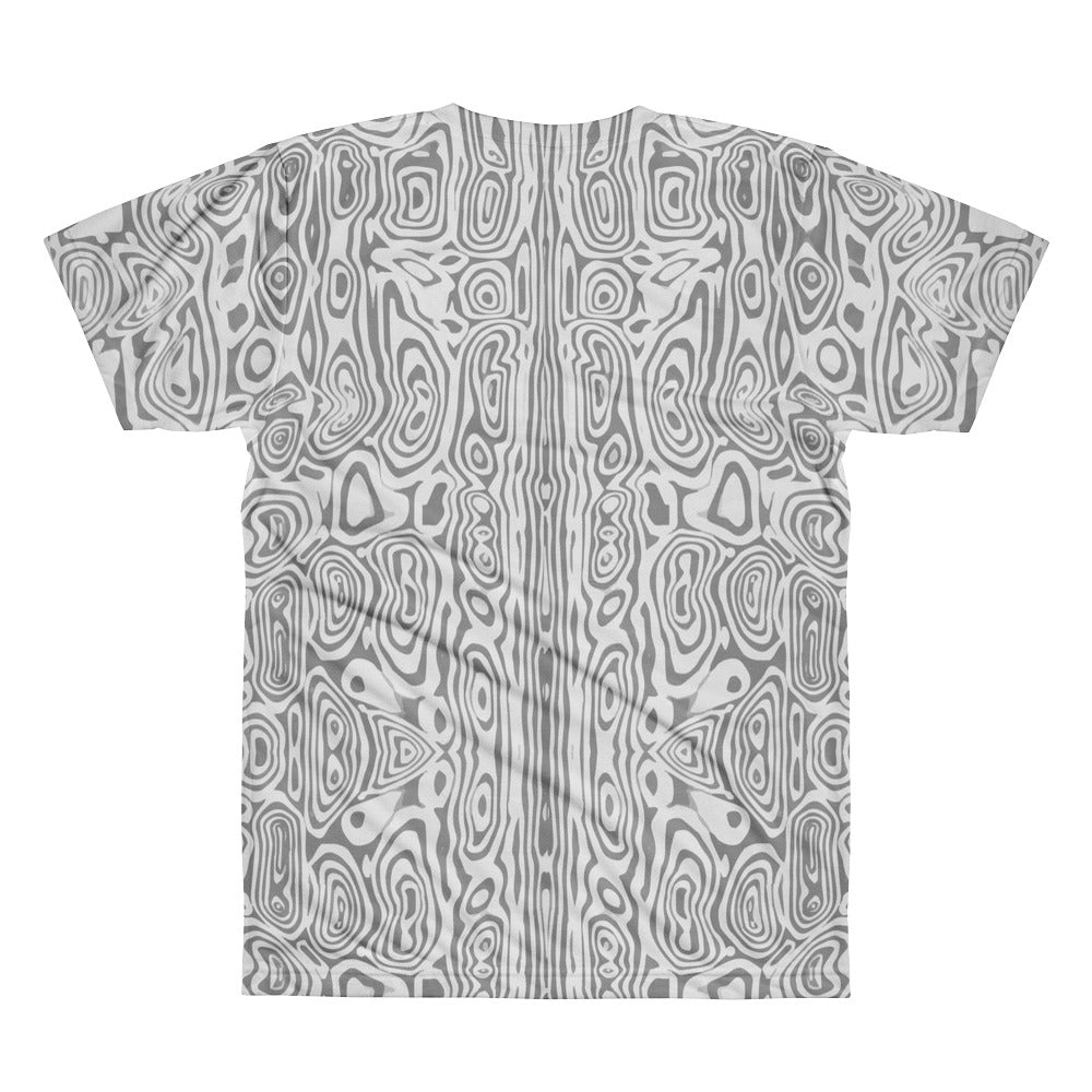 Damascus Pattern FORGED HARD 100% Polyester Men's T-shirt ( Multiple sizes )