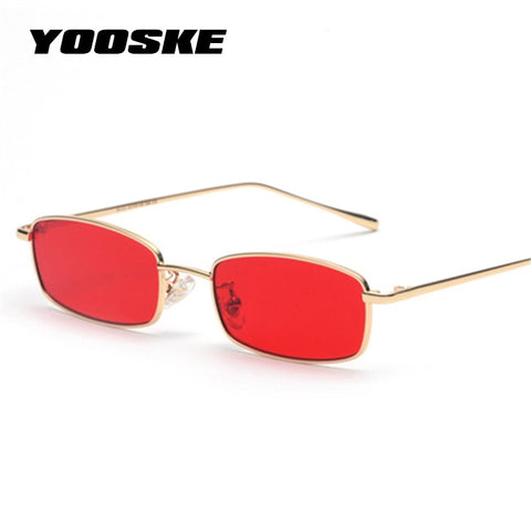 YOOSKE Rectangle Sunglasses unisex