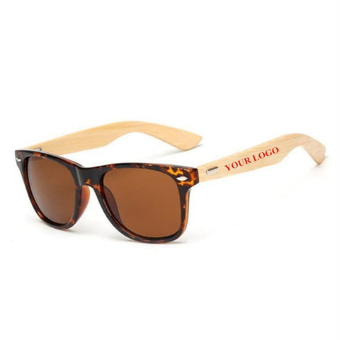 Custom Logo Bamboo Foot Sunglasses unisex