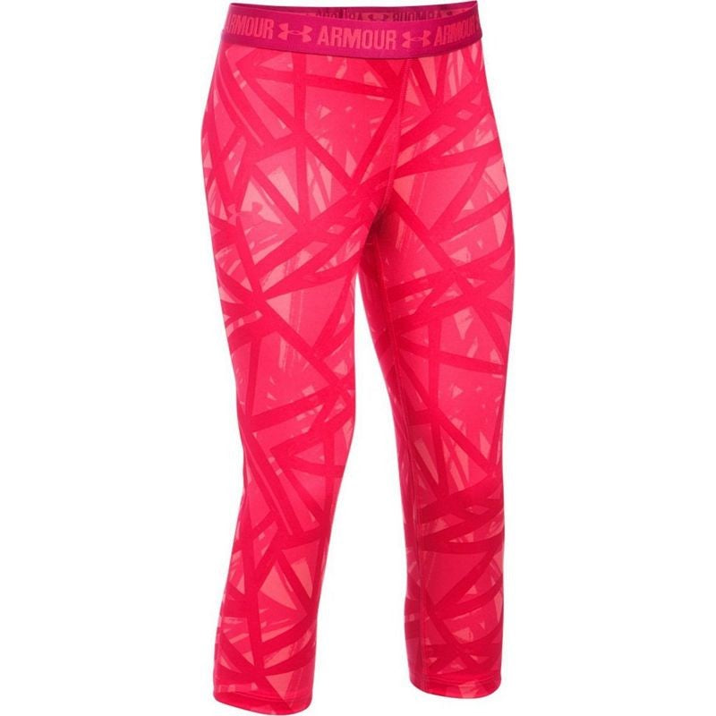 Under Armour Girls' Leggings - Pink/ Red
