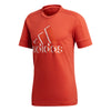 Adidas orange logo Tennis T