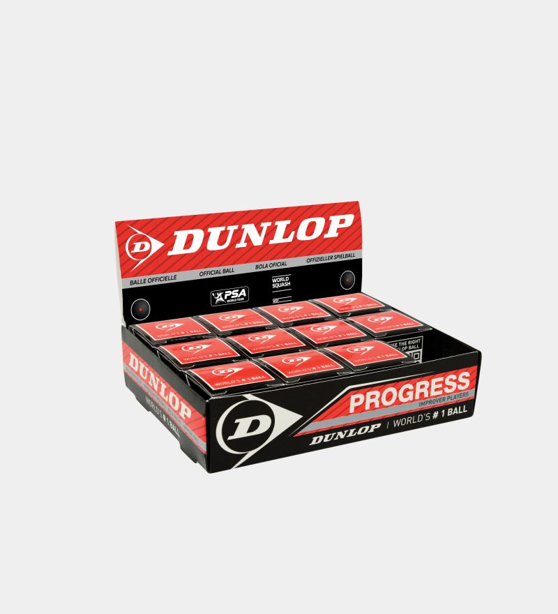 Dunlop Progress Squash | case | 12 balls