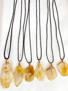 Citrine Gem Stone - The Money Stone necklace