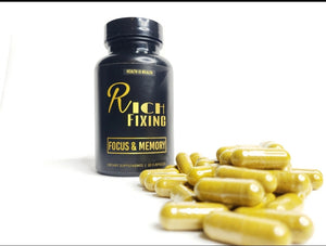 Rich Fixing Focus And Memory Capsules (improves memory, mental function- increase intelligence) • 100% plant-based
