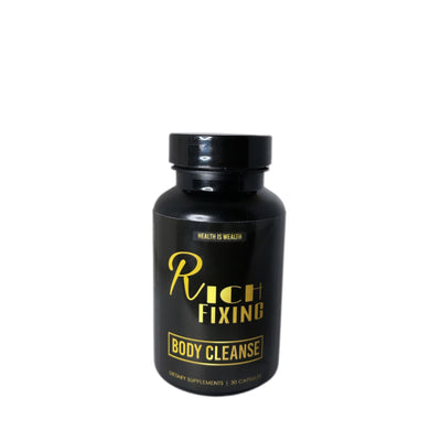 Rich Fixing - Body Cleanse Capsules - eliminate toxic waste & mucus •100 % Plant-based