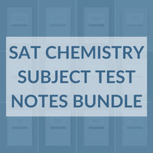 Load image into Gallery viewer, SAT Chemistry Subject Test Notes Bundle