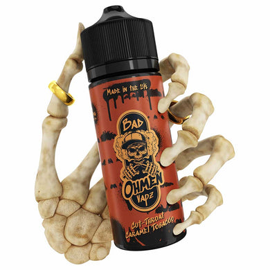 Cut Throat Caramel Tobacco | Bad Ohmen | VAPE GOOD E LIQUID UK