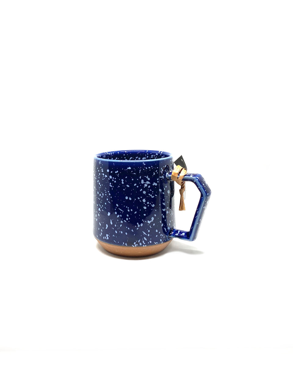 Chips Mug 380ml - Blue/White splash