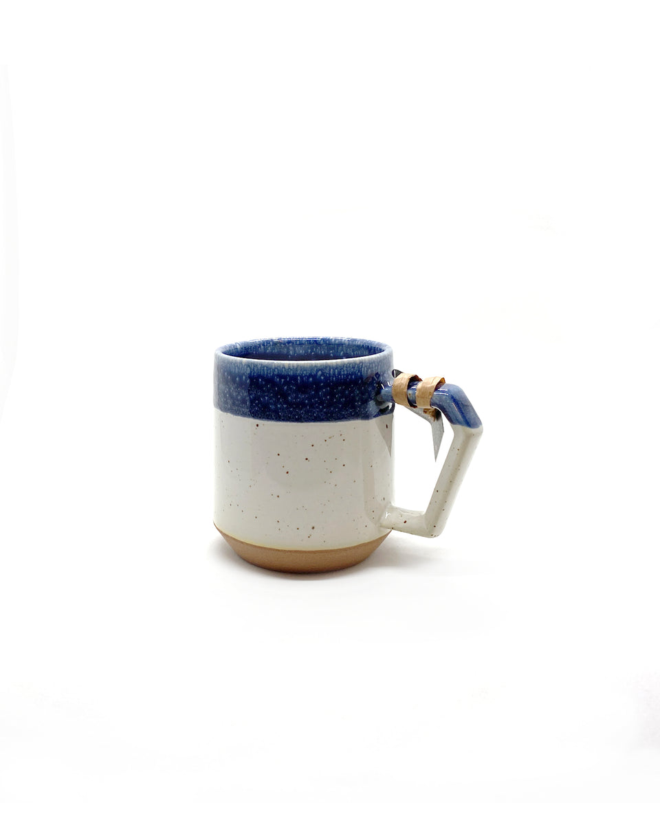 Chips Mug 380ml - Gloss Blue & White