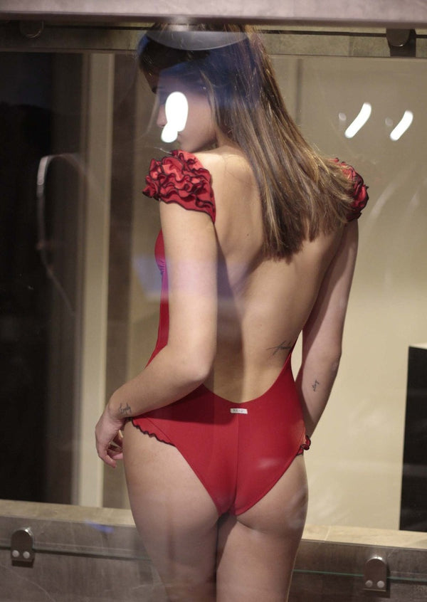 red deira swimsuit back intero