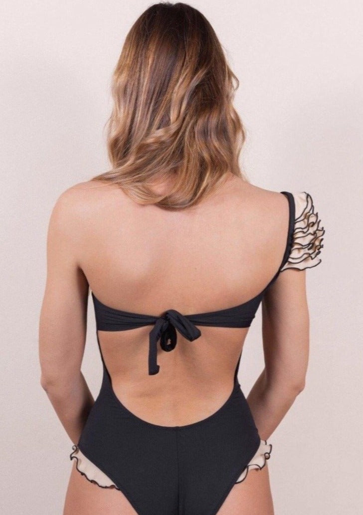 deira swimsuit one shoulder back