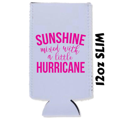 Sunshine Mixed With a Little Hurricane - Car Coasters/ Koozies