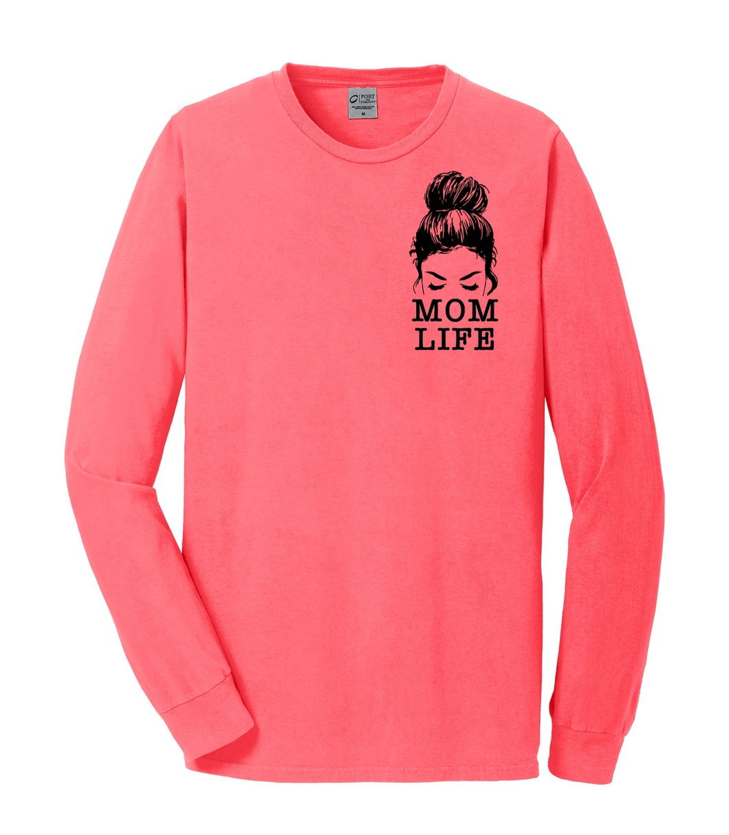 Mom Life - Neon Coral