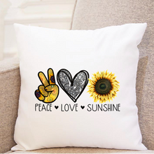 Load image into Gallery viewer, Peace. Love. Sunshine. - Pillow