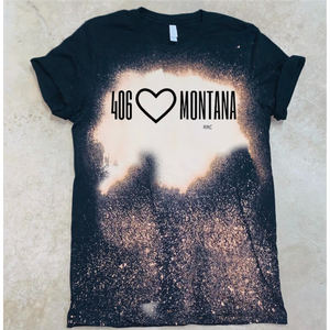 406 Heart Montana - Acid Wash Black