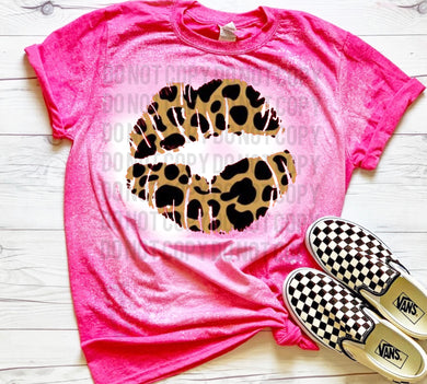Leopard Lips Smooch - Acid Wash Pink